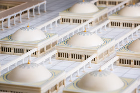 Close up view of Madina Mosque Model Details
