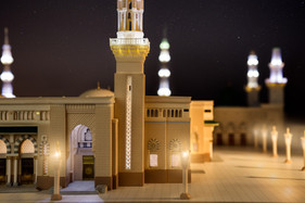 Night View of Madina Mosque Model