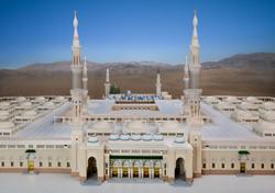Front view of Madina Masjid 3d Model