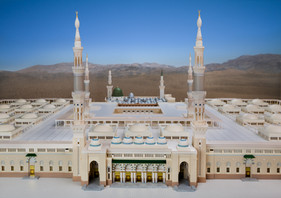 Front image of Madina Mosque model