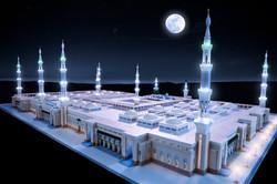 Night View Madina Masjid 3d Model