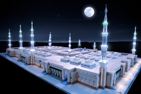 Night view of Madina Mosque Model.
