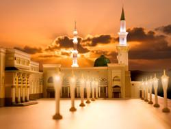 Side view of Madina Masjid 3d Model