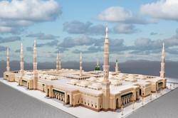 Fornt Quarter view of Madina Masjid 3d Model