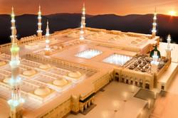 Sunset view of Madina Masjid 3d Model