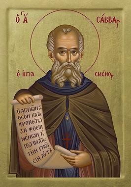 St._Sabbas_the_Sanctified_20x28_Gr_edite