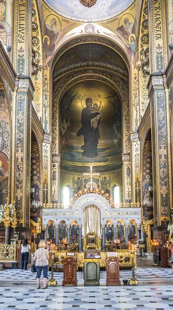 Inside St Volodymyr's Cathedral, Kiev-L.