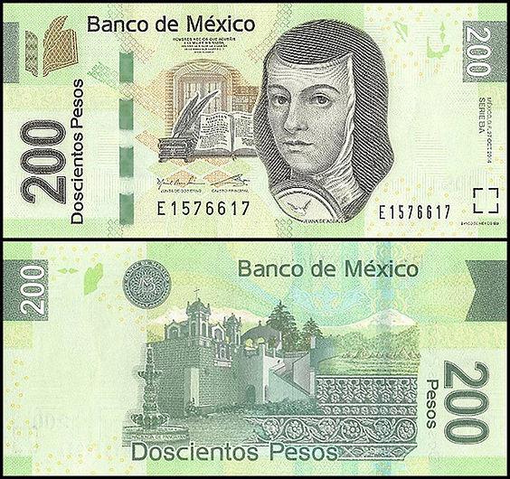 Mexico 200 Pesos, 2014, P-125, UNC, Seri