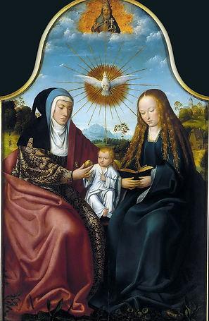1_Триптих Мадонна с Младенцем и св Анной
