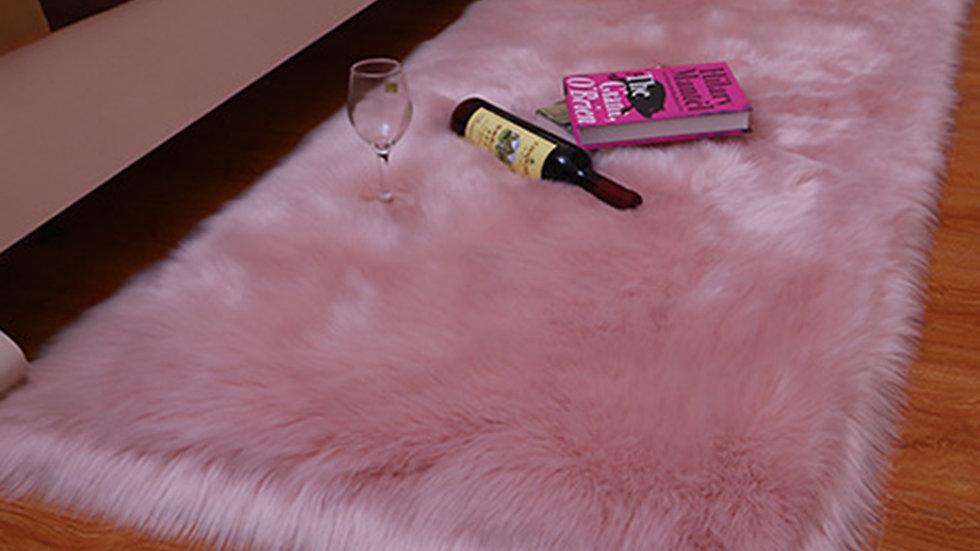 1PC Super Soft Pure Blanket Sheepskin Washable Rugs Faux Fur Mats