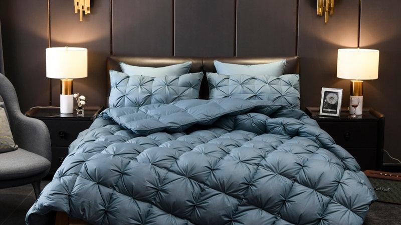 Luxurious Goose Comforter Duvet Insert Cover Reversible