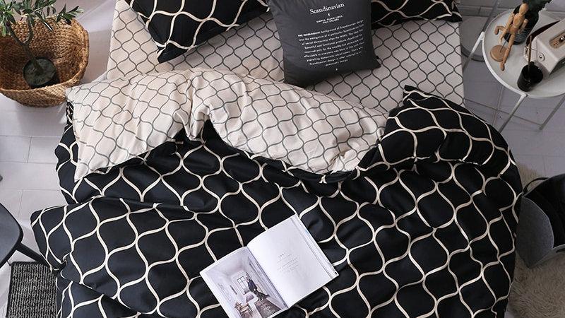 Geometric  Comforter Sets Marble