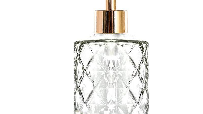 Diamond Design Glass Dispenser With Rust Proof ABS Chrome Pump
