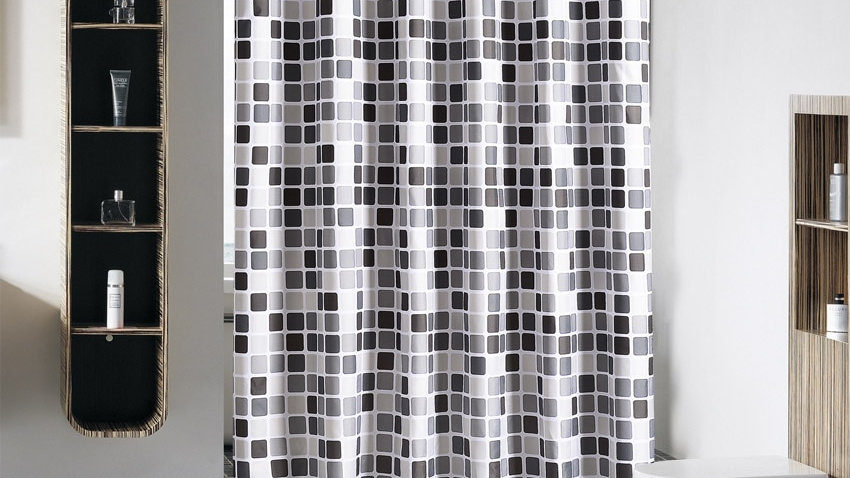 Modern Shower Curtain Mosaic Geometric Waterproof