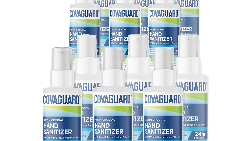 3.38 Oz (12-Pack) | COVAGUARD™ Antimicrobial Hand Sanitizer Spray