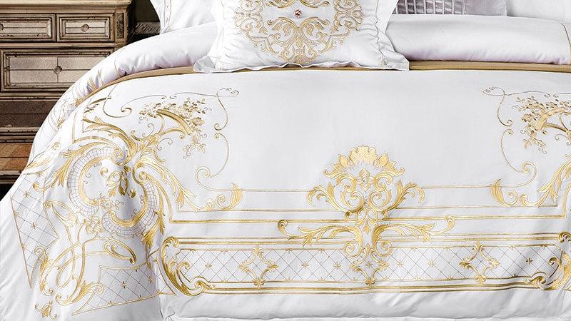 White Egyptian Cotton Bedding Set