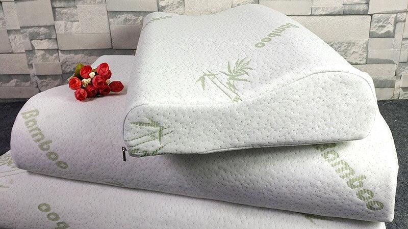 Memory Cotton Pillow Bamboo Fiber Slow Rebound Orthopedic Linen