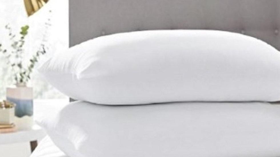 Home 2pcs 100 Bead Silicone Pillow Polycotton Orthopedic Throw Washable