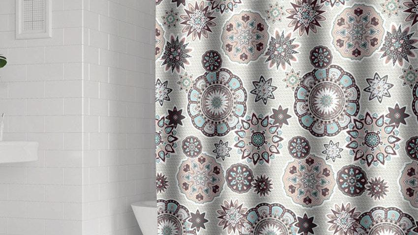 Bohemian Mandala Shower Curtains Geometric Waterproof  Extra Large Wide
