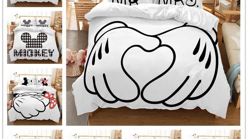 Disney Mickey Minnie Mouse Cartoon Bedding Sets