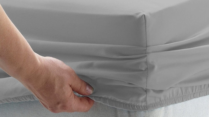 Solid Bed Sheet Fitted Sheet With Elastic Band