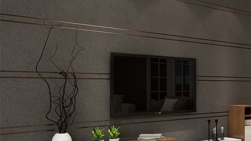 Modern Simple Suede Marble Stripes Wallpaper