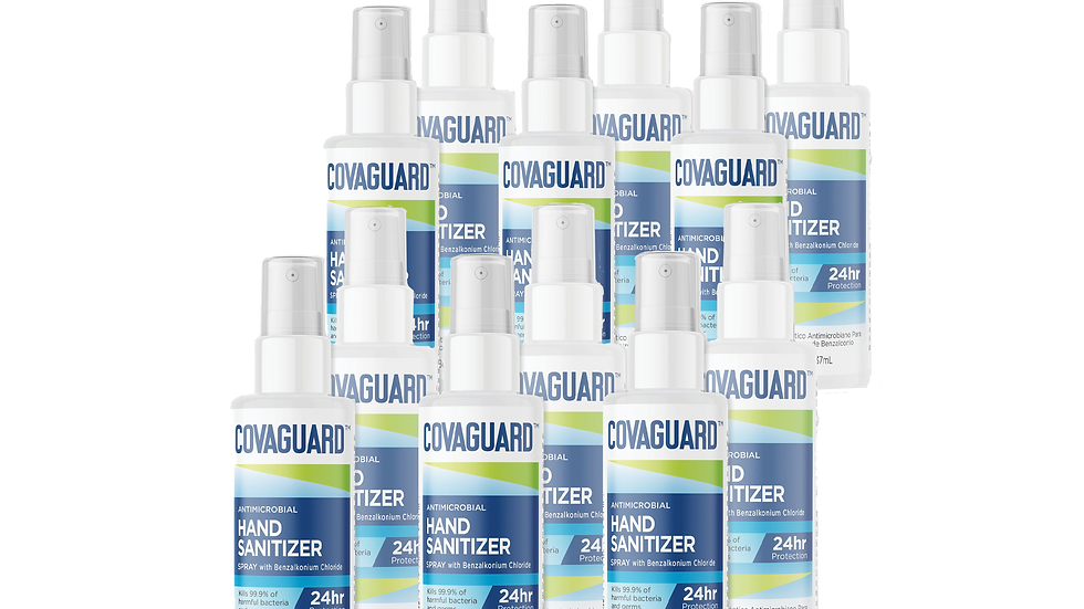 8 Oz (12-Pack) | COVAGUARD™ Antimicrobial Hand Sanitizer (Spray)