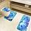 Thumbnail: 3Pcs/Set Bathroom Non-Slip Carpet Blue Ocean Pattern
