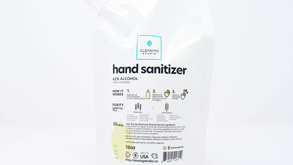 Hand Sanitizer Refill Bag - Lift Blend