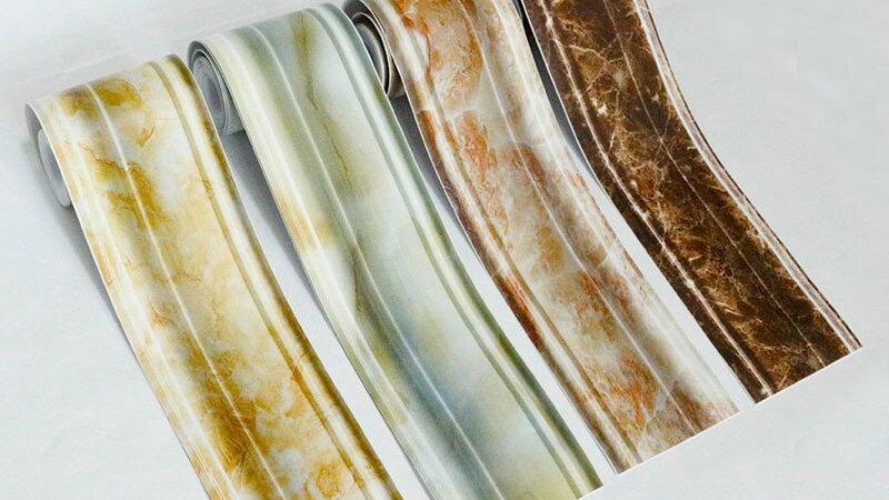 PVC Waterproof Self-Adhesive Waist Line Baseboard Wall Stickers Wallpaper