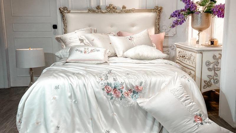 4/7 Pcs Luxury Embroidery Tencel Silk Set