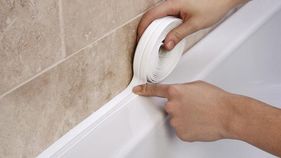 Shower, Sink, & Bath Sealing Strip Tape PVC Self Adhesive Waterproof