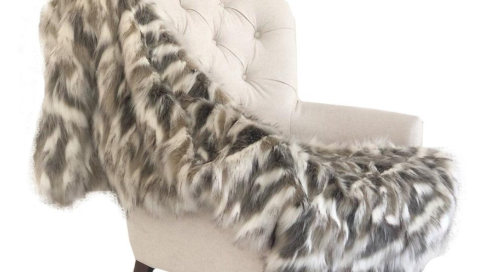 Tibet Faux Fox Handmade Luxury Throw