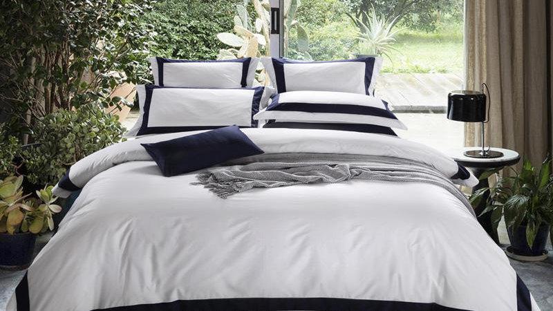 Parure De Lit Luxury Egyptian  White Bedding Set