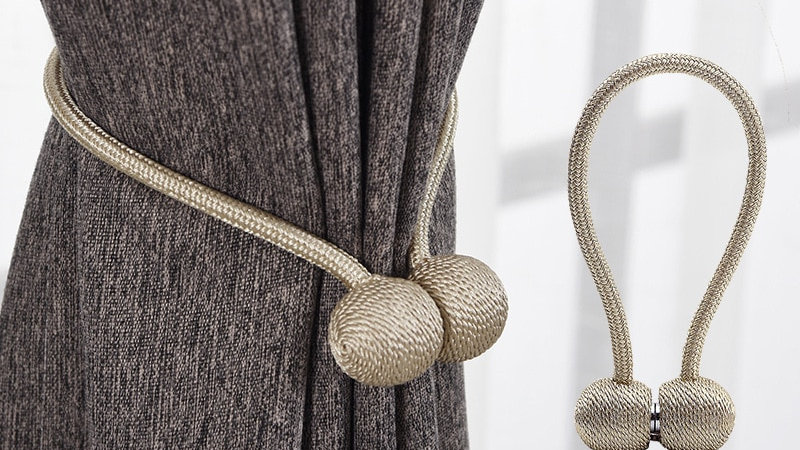Magnetic Pearl Ball Curtain Tieback Buckle Clips Accessory