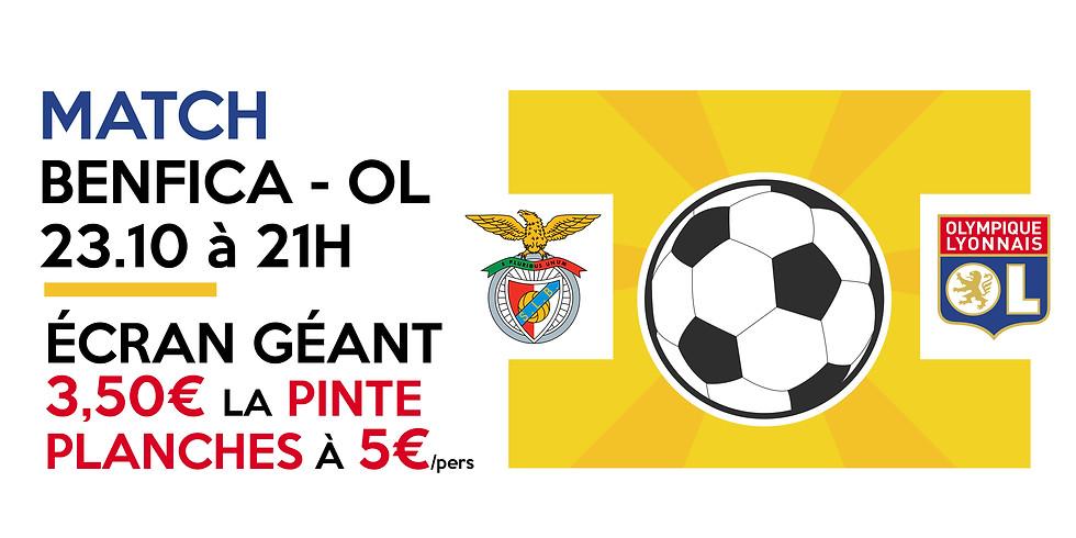 Match Benfica - OL sur écran géant • Pintes à 3,50€ & planches !