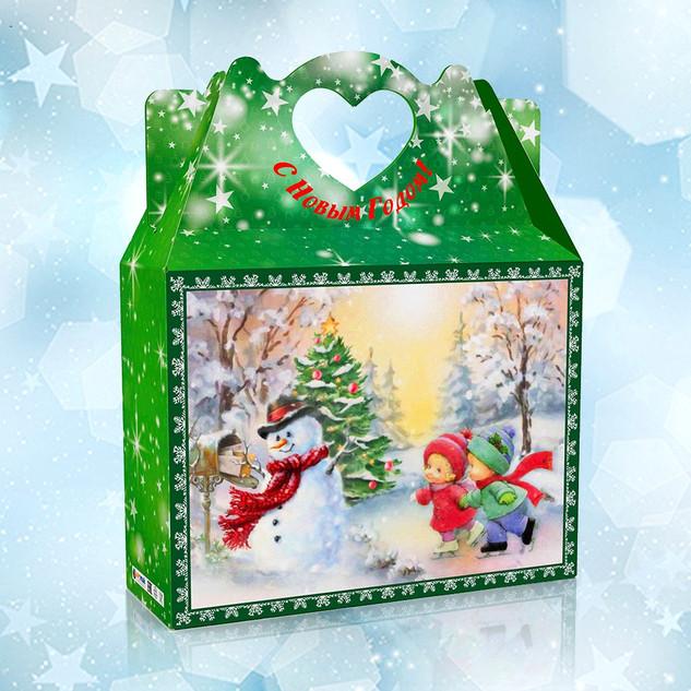 Коробка Сердце_Снеговик и дети
