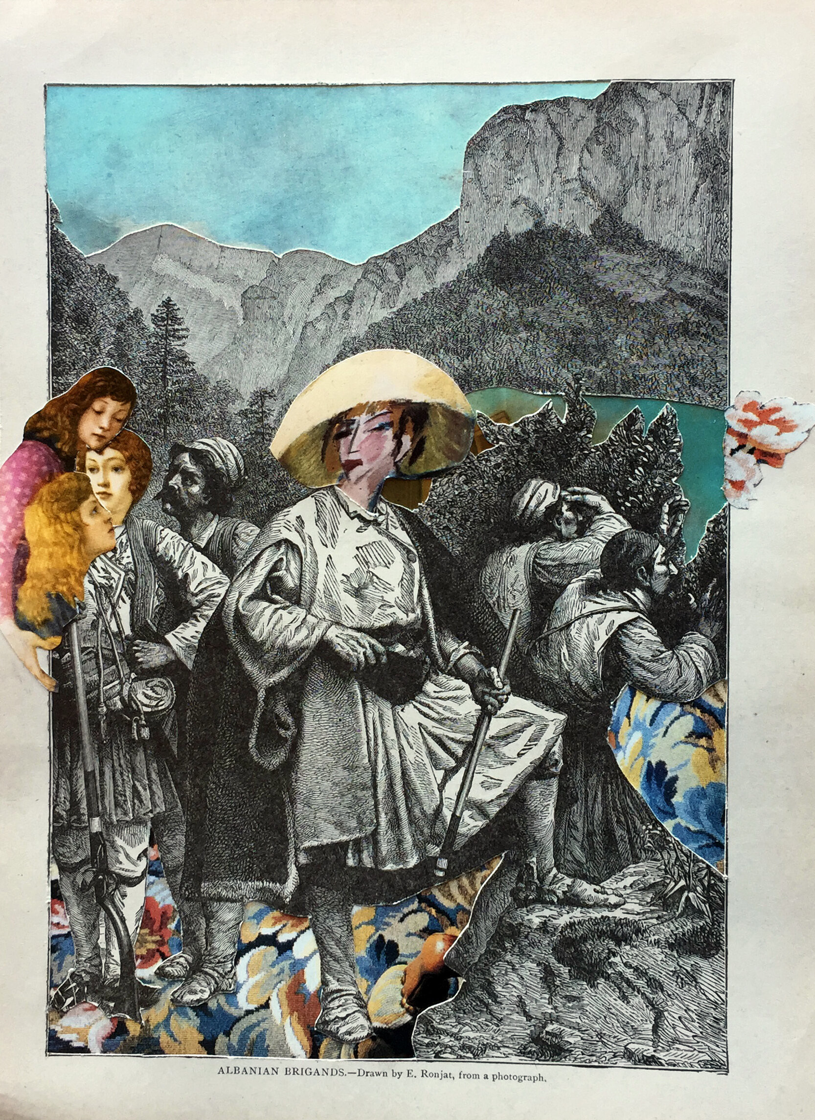 Conspirar, collage análogo 21 x 29 cm - Florencia Reid