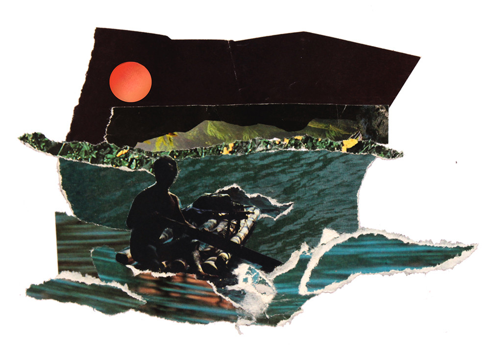 Pescador de media noche - Pau collage