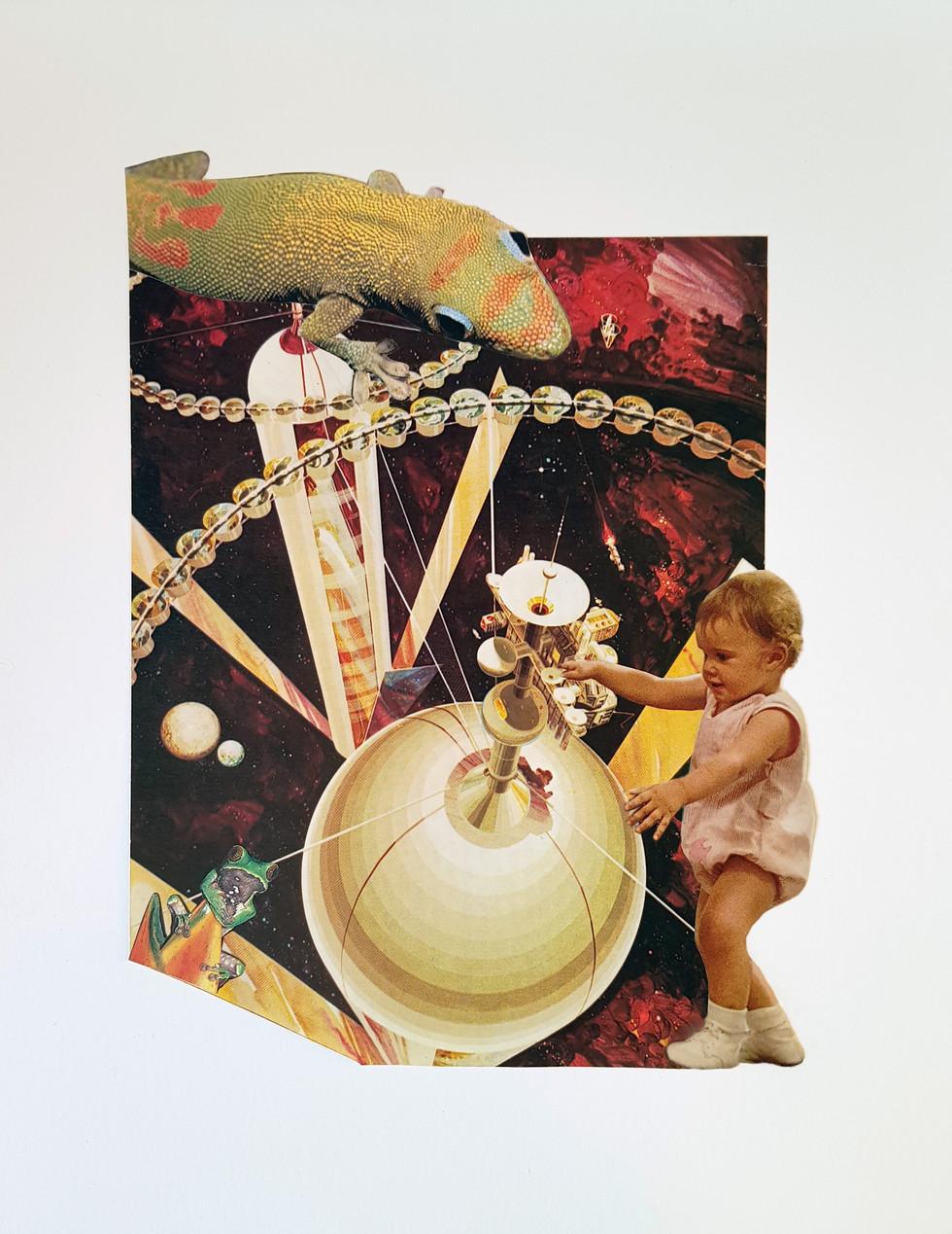 Niña en espacio - El Recreo Collage
