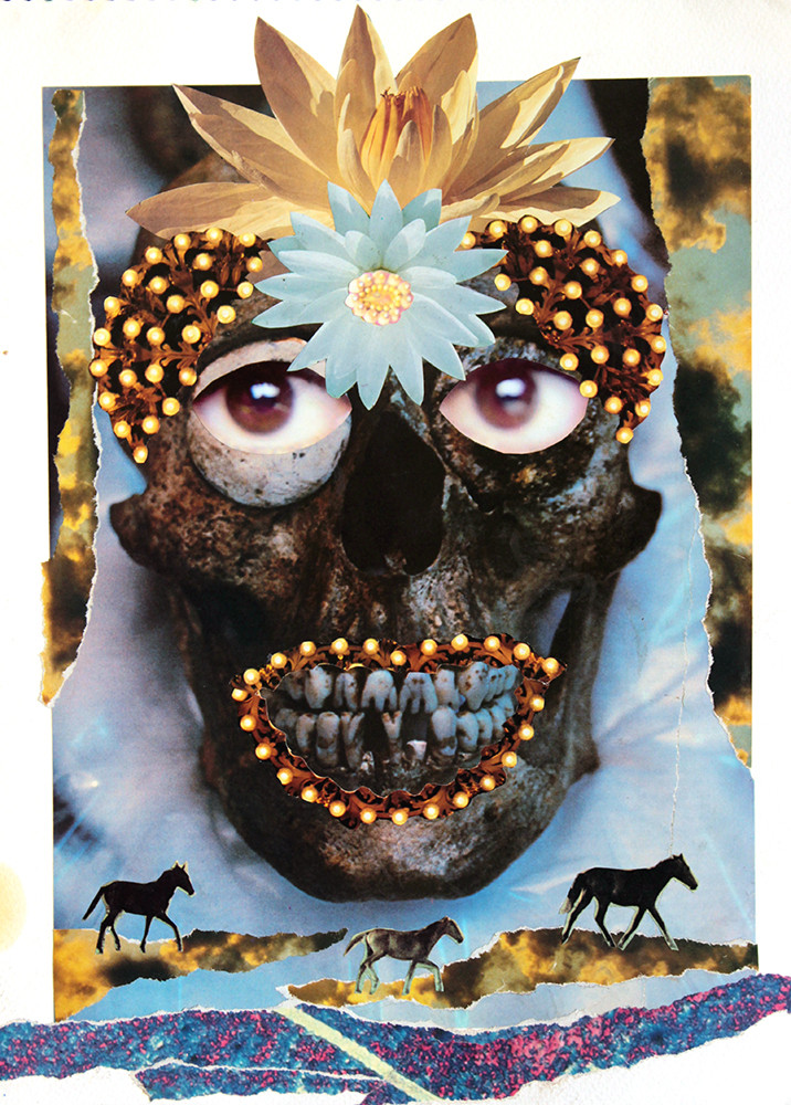 Momia y caballos - Pau collage