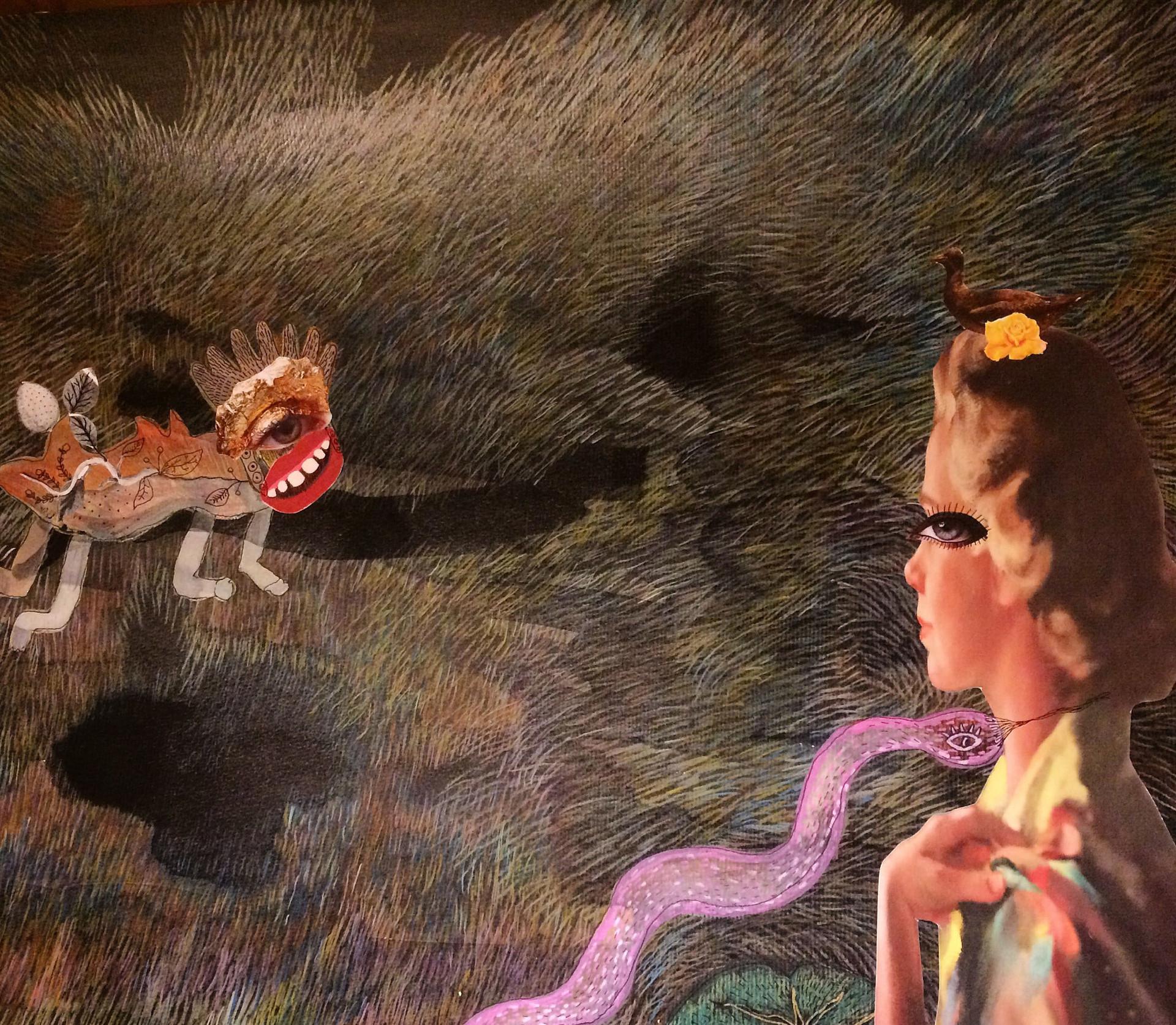 Serie Paracas, collage análogo 50 x 70 cms - Florencia Reid