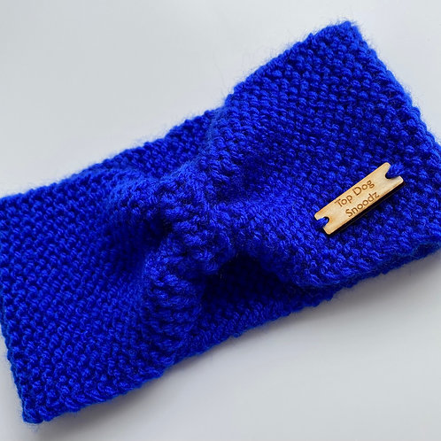 Royal Blue bunched snood