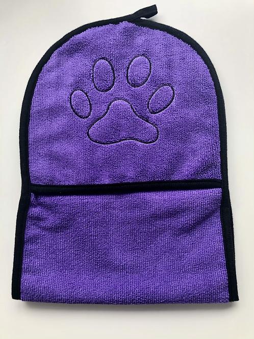 Purple drying mittens