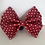 Thumbnail: Red and White polka dot classic bow tie