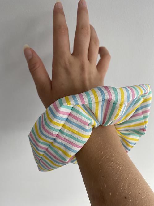 Pastel stripes scrunchie
