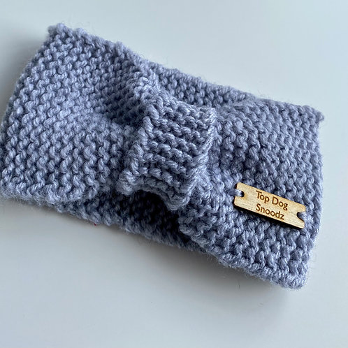 Cool Grey bunched snood