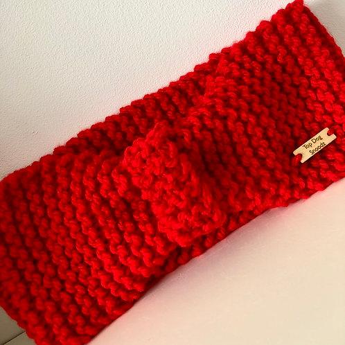 Scarlet Red ear warmer