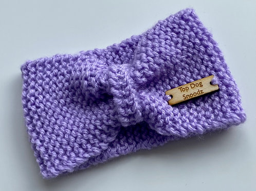 Lavender bunched snood
