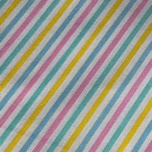 Pastel stripes bow tie